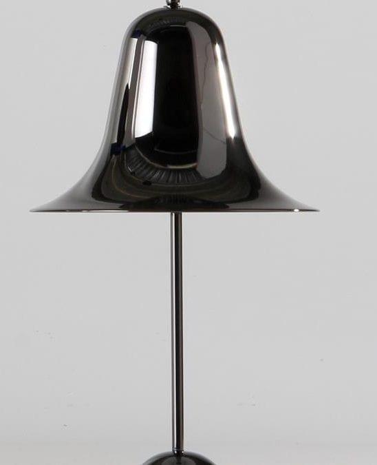 PANTOP BORD LAMPE -SORT CHROME