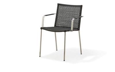 Straw stol m/armlæn