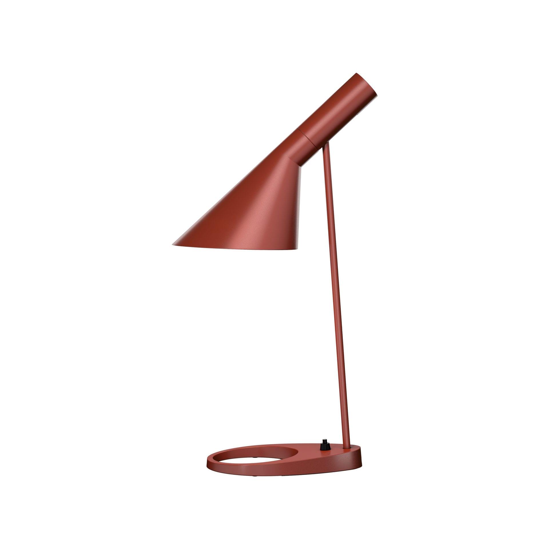 AJ Bordlampe-Rusten rød
