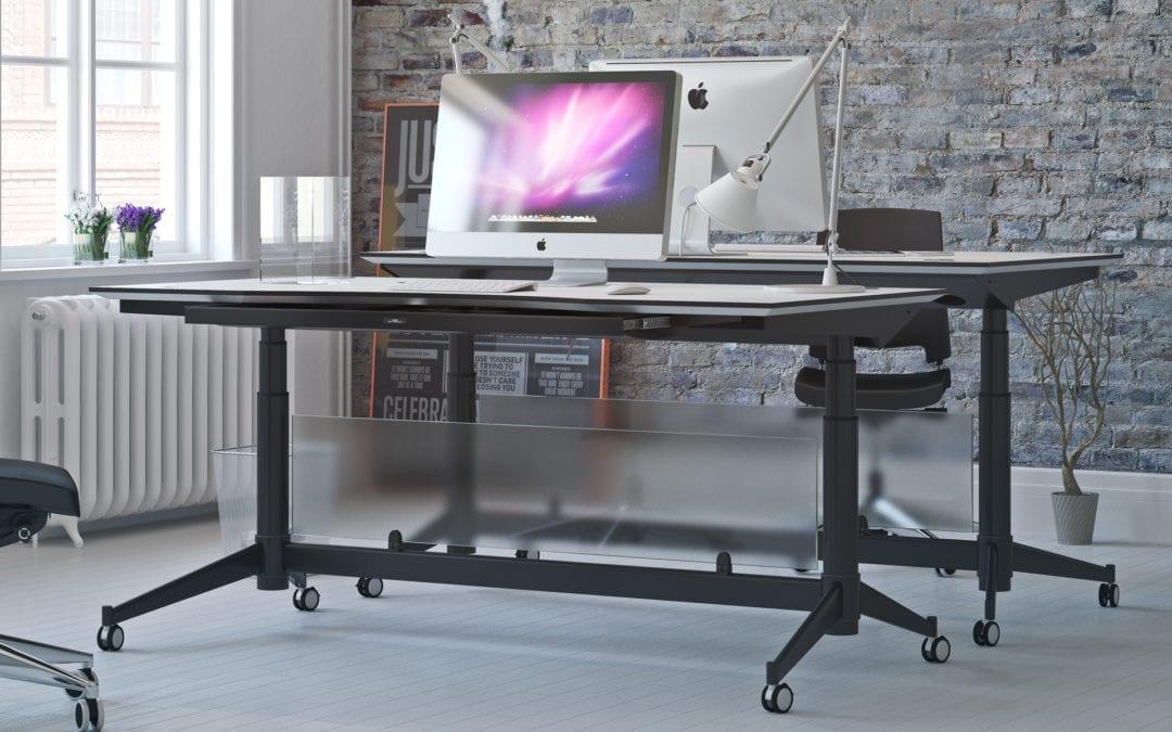 El-hæve/sænke skrivebord